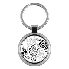 Free Floral Decorative Key Chains (round)  by AnjaniArt