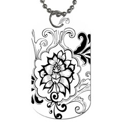 Free Floral Decorative Dog Tag (two Sides) by AnjaniArt