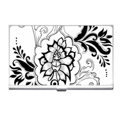 Free Floral Decorative Business Card Holders by AnjaniArt