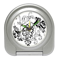 Free Floral Decorative Travel Alarm Clocks