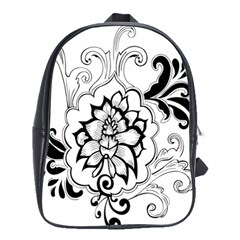 Free Floral Decorative School Bags(large)