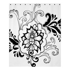 Free Floral Decorative Shower Curtain 60  X 72  (medium)  by AnjaniArt