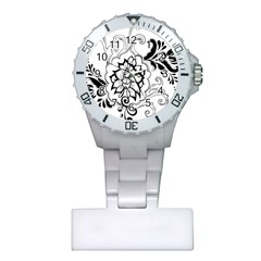 Free Floral Decorative Plastic Nurses Watch by AnjaniArt