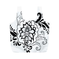Free Floral Decorative Full Print Recycle Bags (m)  by AnjaniArt