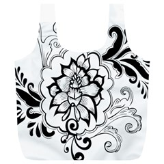 Free Floral Decorative Full Print Recycle Bags (l)  by AnjaniArt