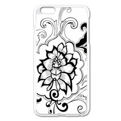 Free Floral Decorative Apple Iphone 6 Plus/6s Plus Enamel White Case by AnjaniArt