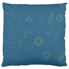 Geometric Debris In Space Blue Standard Flano Cushion Case (two Sides) by AnjaniArt