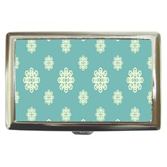 Geometric Snowflake Retro Snow Blue Cigarette Money Cases