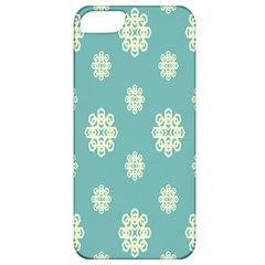 Geometric Snowflake Retro Snow Blue Apple Iphone 5 Classic Hardshell Case