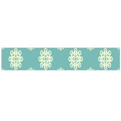 Geometric Snowflake Retro Snow Blue Flano Scarf (large)