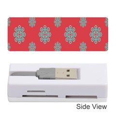Geometric Snowflake Retro Red Memory Card Reader (stick)