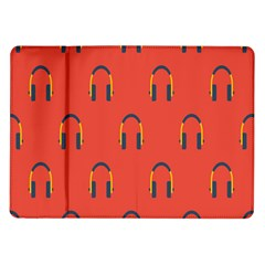 Headphones Red Samsung Galaxy Tab 10 1  P7500 Flip Case by AnjaniArt