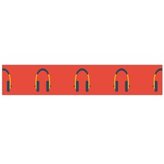 Headphones Red Flano Scarf (large)
