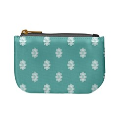Geometric Snowflake Retro Snow Mini Coin Purses by AnjaniArt