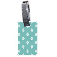 Geometric Snowflake Retro Snow Luggage Tags (two Sides)