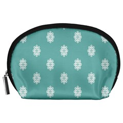 Geometric Snowflake Retro Snow Accessory Pouches (large)  by AnjaniArt