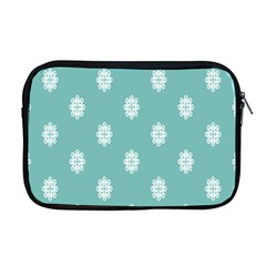 Geometric Snowflake Retro Snow Apple Macbook Pro 17  Zipper Case by AnjaniArt