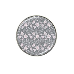 Gray Flower Floral Flowering Leaf Hat Clip Ball Marker (10 Pack) by AnjaniArt