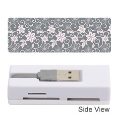 Gray Flower Floral Flowering Leaf Memory Card Reader (stick)