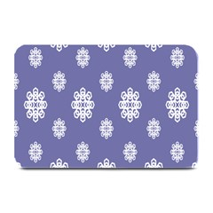 Geometric Snowflake Retro Purple Plate Mats by AnjaniArt