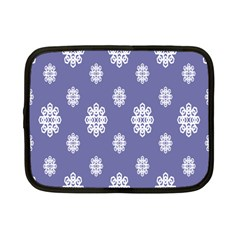 Geometric Snowflake Retro Purple Netbook Case (small)