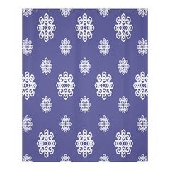 Geometric Snowflake Retro Purple Shower Curtain 60  X 72  (medium)  by AnjaniArt