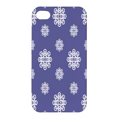 Geometric Snowflake Retro Purple Apple Iphone 4/4s Premium Hardshell Case