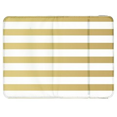 Horizontal Stripes Dark Brown Grey Samsung Galaxy Tab 7  P1000 Flip Case