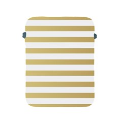 Horizontal Stripes Dark Brown Grey Apple Ipad 2/3/4 Protective Soft Cases