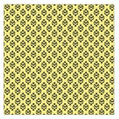 Halloween Scrapbook Paper Bat Yellow Large Satin Scarf (square)