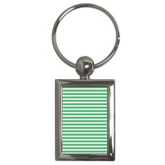 Horizontal Stripes Green Key Chains (rectangle)