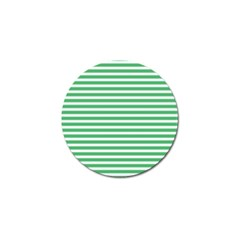 Horizontal Stripes Green Golf Ball Marker by AnjaniArt