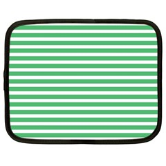 Horizontal Stripes Green Netbook Case (large)