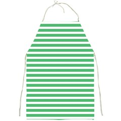 Horizontal Stripes Green Full Print Aprons