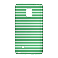 Horizontal Stripes Green Galaxy Note Edge by AnjaniArt
