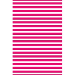 Horizontal Stripes Hot Pink 5 5  X 8 5  Notebooks