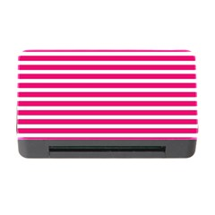 Horizontal Stripes Hot Pink Memory Card Reader With Cf