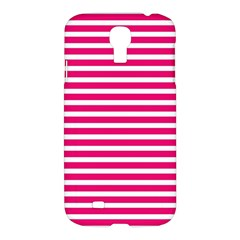 Horizontal Stripes Hot Pink Samsung Galaxy S4 I9500/i9505 Hardshell Case