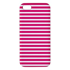 Horizontal Stripes Hot Pink Iphone 5s/ Se Premium Hardshell Case