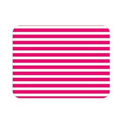 Horizontal Stripes Hot Pink Double Sided Flano Blanket (mini)