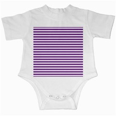 Horizontal Stripes Purple Infant Creepers