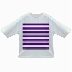 Horizontal Stripes Purple Infant/toddler T Shirts