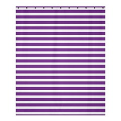 Horizontal Stripes Purple Shower Curtain 60  X 72  (medium)  by AnjaniArt