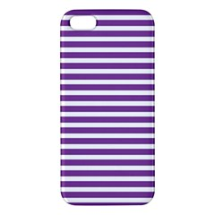 Horizontal Stripes Purple Iphone 5s/ Se Premium Hardshell Case