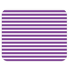 Horizontal Stripes Purple Double Sided Flano Blanket (medium)  by AnjaniArt