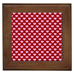 Hearts Love Valentine Pink Day Happy Wallpaper Framed Tiles by AnjaniArt