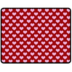 Hearts Love Valentine Pink Day Happy Wallpaper Fleece Blanket (medium)