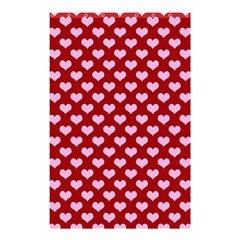 Hearts Love Valentine Pink Day Happy Wallpaper Shower Curtain 48  X 72  (small)