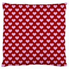 Hearts Love Valentine Pink Day Happy Wallpaper Large Cushion Case (two Sides)