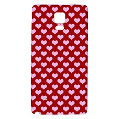 Hearts Love Valentine Pink Day Happy Wallpaper Galaxy Note 4 Back Case